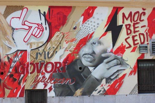 Street art nel centro di Lubiana
