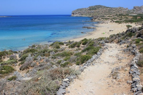 Panorama spiaggia Falásarna Creta