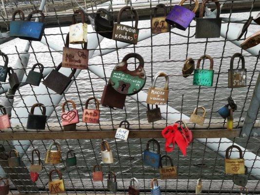 Ponte pedonale Kładka Ojca Bernatka Cracovia