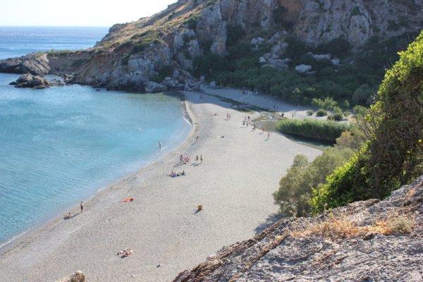 Panorama spiaggia Préveli Creta