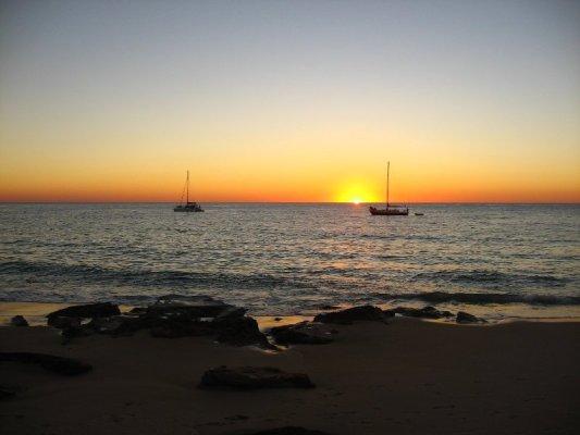 Tramonto a Cape Leveque nella Dampier Peninsula in Australia