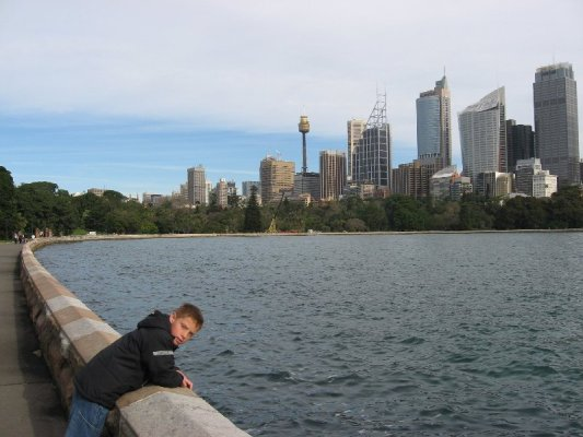 Lo skyline di Sydney sulla baia