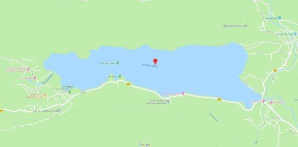 Mappa lago Bohinj Slovenia