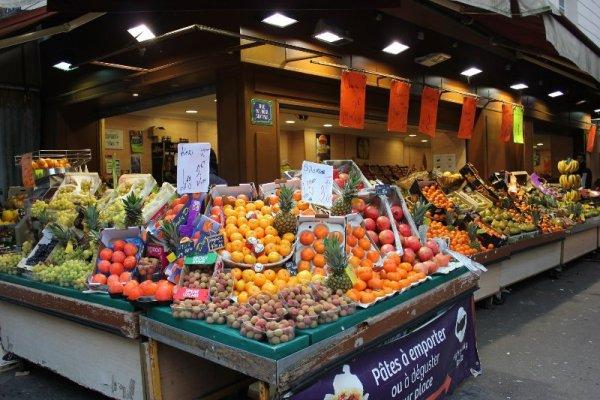 Negozio frutta Marais Parigi