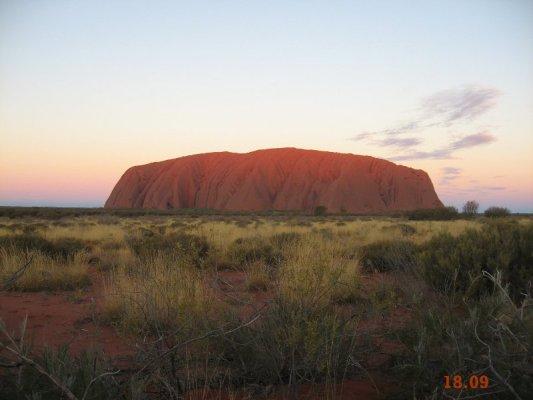 Tramonto Uluru Australia