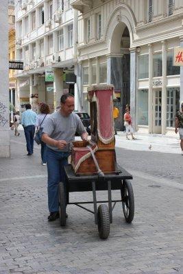 Suonatore di strada Atene