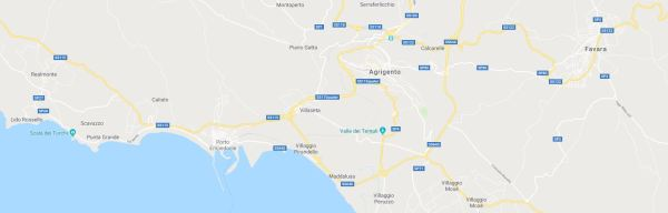 Mappa dintorni Agrigento