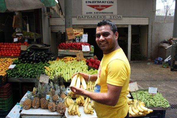 Mercato frutta verdura Atene