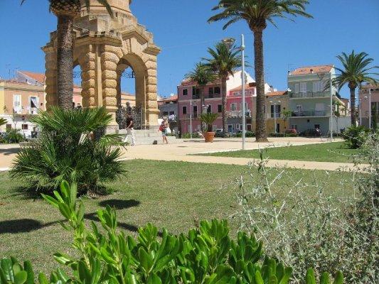 Piazza Pegli Carloforte isola San Pietro