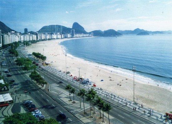Panorama sulla spiaggia di Copacabana a Rio de Janeiro