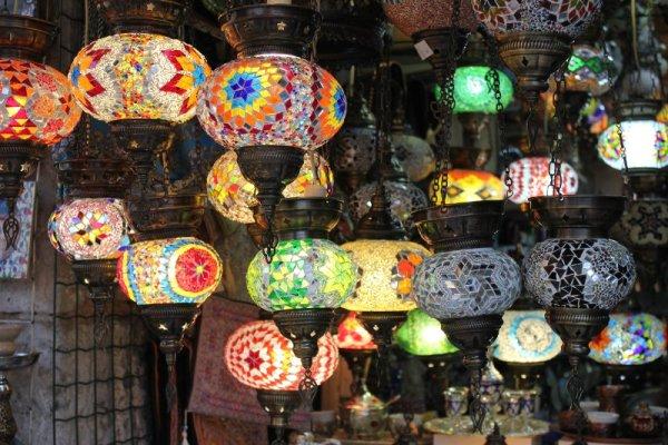 Lampade vetro bazar Kujundžiluk Mostar