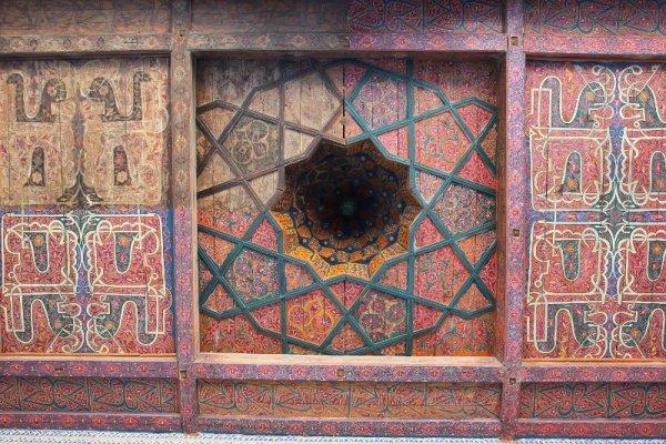 Soffitto legno Palazzo Tosh Hovli Khiva