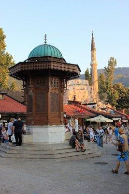 La fontana Sebilj a Sarajevo