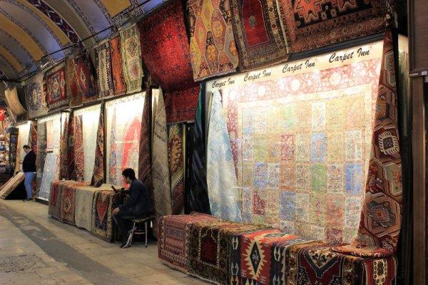 Tappeti nel Gran Bazar Istanbul