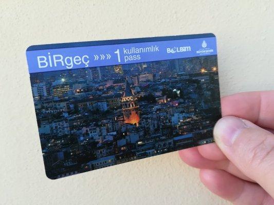 Biglietto della metro e del tram Istanbul