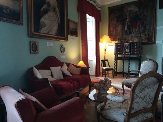 Salotto Verde, interno del castello di Duino