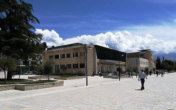 Bulevardi Republika viale pedonale Berat Albania