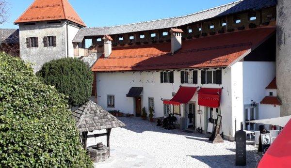 Cortile interno Castello Bled Slovenia