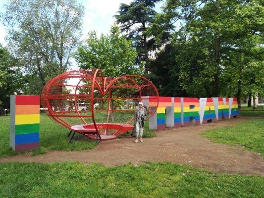 Il Parco Rinia a Tirana