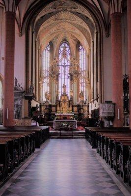 Interno chiesa St. Jakob Villach Austria