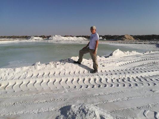 Lago salato deserto di Varzaneh Iran