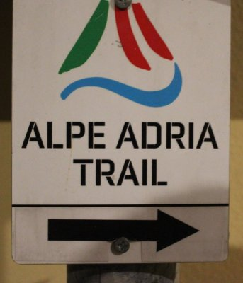 Segnaletica Alpe Adria Trail