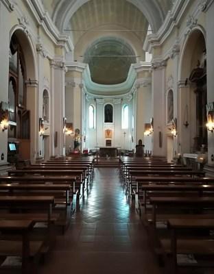 Interno chiesa parrocchiale di San Giacomo a Cesenatico