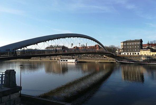 Il ponte pedonale Padre Bernatek Cracovia