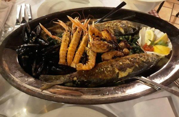 Piatto di pesce misto Istria