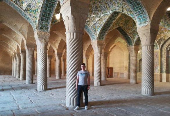Colonne Sala della Preghiera, Masjed-e Vakil Shiraz Iran