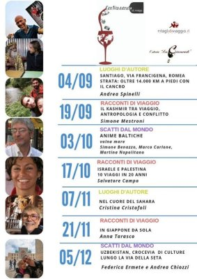 Programma autunno di Conversando di Viaggi 2019 a Udine