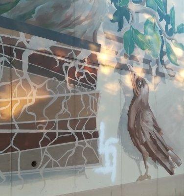 Opera di street art di Scarpa a Udine