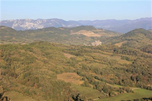 Panorama dei dintorni di Štanjel Slovenia
