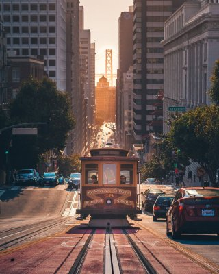 Cable car della California line a San Francisco