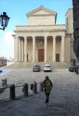 La facciata della Basilica di San Marino