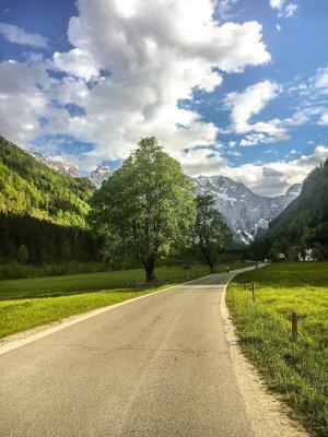 Paesaggio della Logarska Dolina in Slovenia