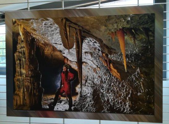 Mostra fotografica nel museo della Grotta Gigante