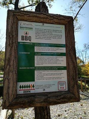 La BBQ area nel Bosco Romagno