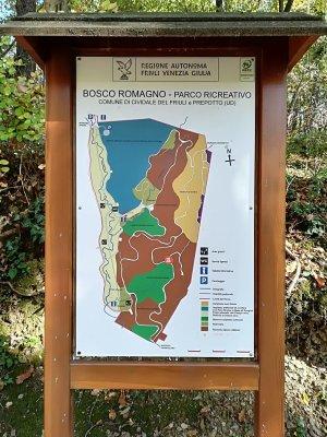 La mappa del Bosco Romagno