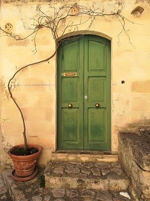 L'ingresso di una abitazione del centro storico di Matera