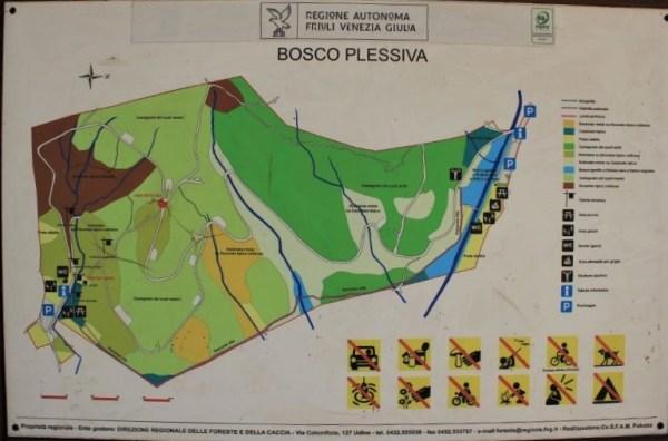La mappa del Bosco di Plessiva