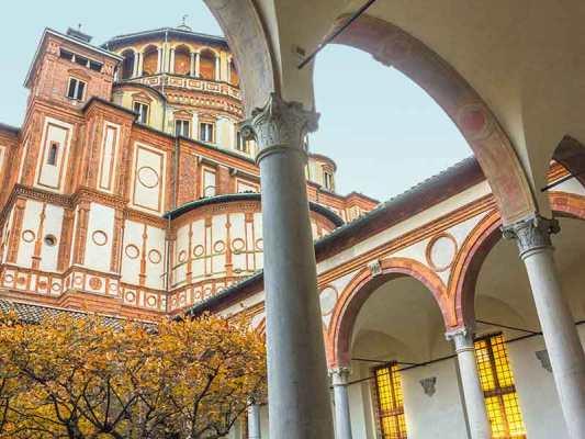 La chiesa di Santa Maria delle Grazie a Milano