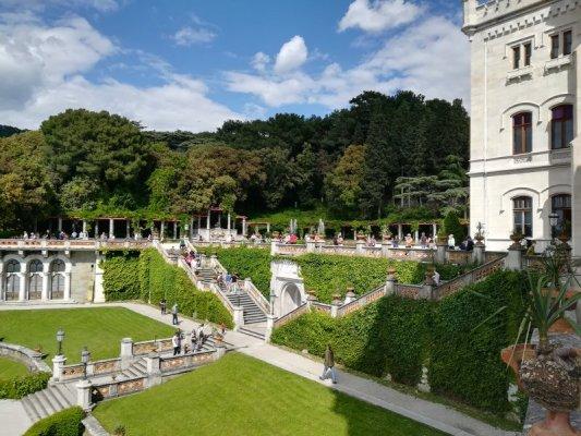 Il giardino del Castello di Miramare a Trieste