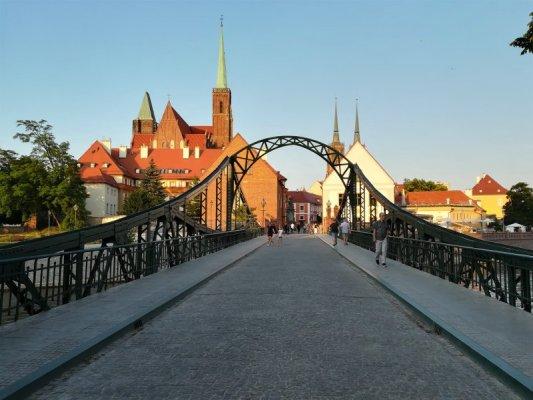 Il ponte Tumski a Breslavia