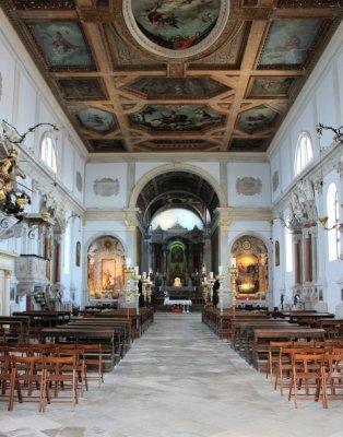 L'interno del duomo di San Giorgio a Pirano in Slovenia