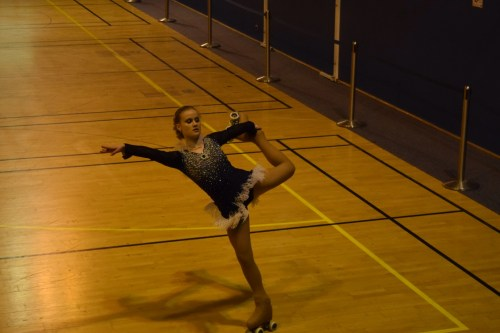 Rosie competing in free dance at Issy 2015