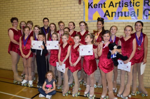 Skaters at Kent competition 2015