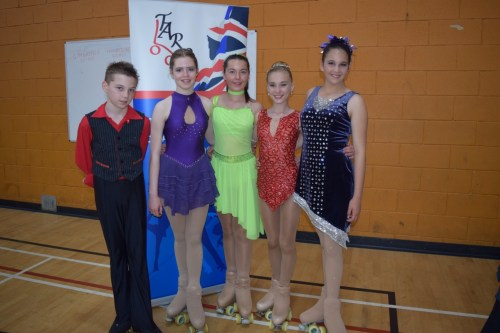 Luke, Ellie, Maddie, Kati and Feliciy at Espoir solo dance championships 2016