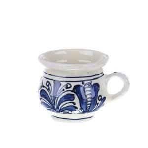 Ceasca vin / ceai / cafea ceramica albastra de Corund 200 ml