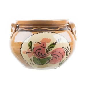 Oală de sarmale ceramică pictată manual 5 l